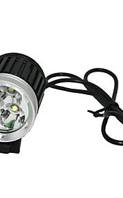 Luzes de Bicicleta Lanternas de Cabeça / Luzes de Bicicleta Recarregável / Controle de Ângulo 2400-3000 Lumens Bateria / Carregador AC