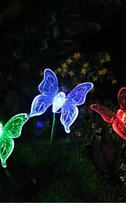 Solar cambian de color del jardín de la mariposa Light Stake