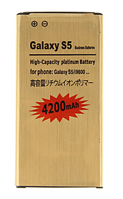 4200mAh vervangende mobiele telefoon Batterij Gouden voor Samsung Galaxy S5/I9600