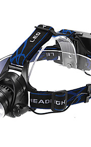 Hovedlygter LED 3 Tilstand 1200 Lumens Justerbart Fokus / Vanntett / Genopladelig / selvforsvar Cree XM-L T6 18650 Multifunktion - Andre
