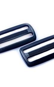 Heavyduty Plastic Triglide Slides 50mm - Black (2-Pieces Pack)