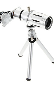 Universal Zoom 12X Telephoto Metal Cellphone Lens with Tripod