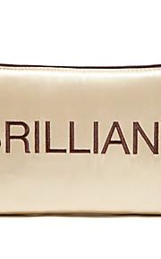 Quadrate Cloth lusso dorato brillante trucco Letter Clutch sacchetto cosmetico Borsa di stoccaggio
