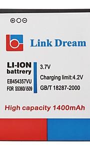 Link Dream 3.7V 1400mAh Cell Phone BatteryEB454357VU voor Samsung S5360 I509