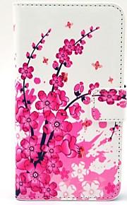 HTC 디자 이어 (310)를위한 대와 카드 슬롯을 가진 특별한 꽃 패턴 PU 가죽 하드 케이스