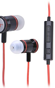 JTX JL-730 3.5mm Plug In-Ear Earphone with Microphone for Cell Phone (Red + Black)