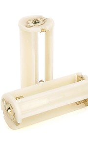 D120943 3 x AAA batterijen Houder Tas voor zaklamp - Wit (2 stuks)