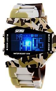 Exército Estilo dos homens Multi-Funcional LED colorido Camouflage banda silicone relógio de pulso (cores sortidas)