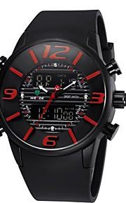 fashion design desportivo multi-funcional relógio dual time banda zonas de borracha de pulso dos homens weide® (cores sortidas)