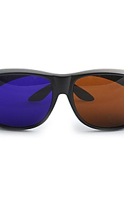 M&K General High Definition Brown Blue 3D Glasses for Computer and TV