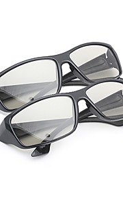 M&K General Polarized Light Patterned Retarder Thicken 3D Glasses for TV and Cinema (2Pcs)