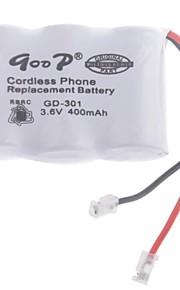 """3.6V """"400mAh"""" Rechargeable Cordless Phone vervangende batterij"""