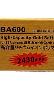 Batería de gran capacidad del oro del polímero del li-ion 2430mah para Sony st25l/xperia ericssonphone p / xperia u