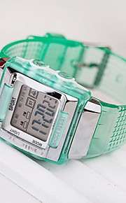 Masculino Relógio Esportivo Digital Silicone Banda Verde marca-
