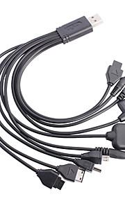 Ten en uno multifuncional de carga USB Cable de datos para móvil