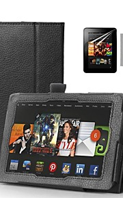 """COCO FUN® Black Book Design PU Leather Case with Screen Protector and Stylus for 7"""" Amazon Kindle fire HDX"""