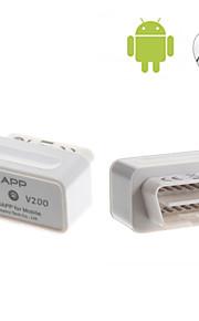 AUTOPHIX® OBD2 OBDII Bluetooth Auto Car Diagnostic Scan Tool Mini Smart Car Trip Computer V200 - Supports iOS and Android