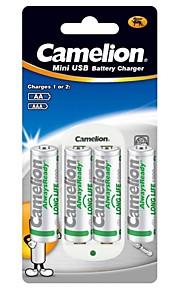 camelion standaard lader voor AA / AAA batterij met 4 stuks AlwaysReady 1000mAh Ni-MH AA oplaadbare batterijen