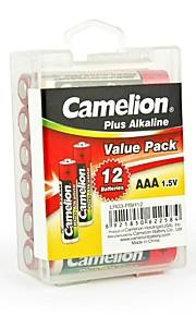 camelion plus alkaline AAA batterij in de verpakking doos van 12 stuks