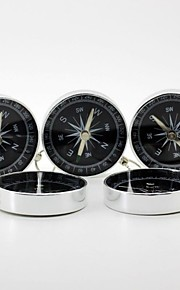 Outdoor Aluminium Alloy Silver Compass with Key Chain(5 pcs)