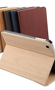 DSD® Luxury Supper Slip Auto Sleep/Wake Up Wood Stripe PU Leather Full Body Case for iPad 2/3/4 (Assorted Colors)