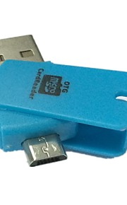2 in 1 Micro SD TF Card Reader with OTG USB 2.0 for PC and Samsung Phones(Assorted Color)