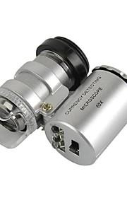 universal 60x mikroskop linse sæt til iPhone / iPad / Samsung / htc + more mobiltelefon / tablet pc