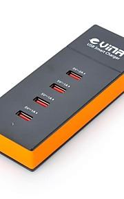 vina ups-001 veiligheid slimme 5a hoge snelheid 4-poorts usb snellader voedingsadapter (us plug)