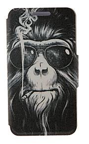 용 노키아 케이스 카드 홀더 / 플립 케이스 풀 바디 케이스 동물 하드 인조 가죽 Nokia Nokia Lumia 630 / Nokia Lumia 625