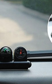 Black Mini Vehicle Navigation  Compass Thermometer Ball
