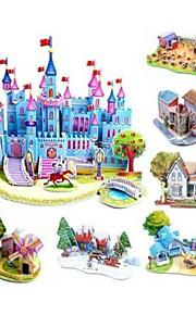 Børn pædagogisk legetøj DIY 3d puslespil for børn voksne slot puslespil