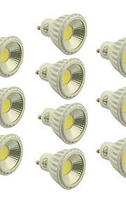 10 stk. GU10 4.5 W 1 COB 400-450 LM Varm hvit/Naturlig hvit/Kjølig hvit Dimbar Spotlys AC 220-240/AC 110-130 V