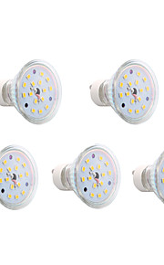 GU10 - 4 W- MR16 - Spotlights (Warm White 300 lm- AC 85-265 V- 5 stk