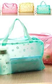 borse modello di fiore portatili trasparenti stoccaggio di balneazione (colore casuale)