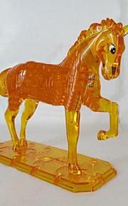børns uddannelsesmæssige legetøj hest DIY 3d tredimensionale krystal puslespil (tilfældig farve)