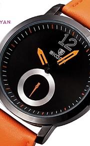 Skone homens de luxo da marca clássico relógio de negócios casuais moda relógios de quartzo