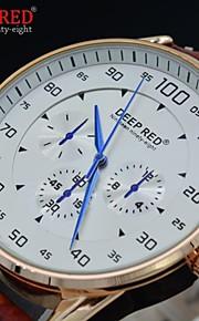 quartzo dos homens relógios moda mostrador redondo relógios vestido impermeável relógio esportivo (cores sortidas)