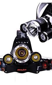 Boruit 3x CREE XM-L T6 LED 5800Lm Headlamp Headlight Torch Powered by 2pcs 18650 Batteries