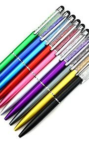 aanraken stylus pen met kristallen decoratie balpen voor iPhone iPad Samsung tablet
