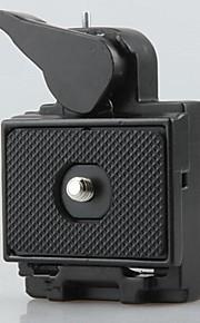 assento 2em1&prato de liberação rápida para DSLR tripé de câmera lanterna cabeça monopé montar 1/4 3/8 parafuso