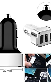3-usb auto adattatore per accendisigari per smartphone e schede (samsung s2 / s3 / S4 / S5 / nota2, iphone, colori assortiti)