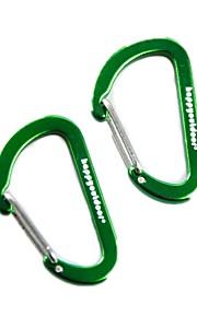 4mm Wirgate Carabiner Buckle Hook Holder Clip 2pcs Set (Random Color)