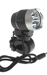 Cykellys LED 4.0 Tilstand 3000 Lumens Vanntett / Lygtehoved / High Power Cree XM-L2 U2 18650 Cykling / Kørsel - Zweihnder , Sort