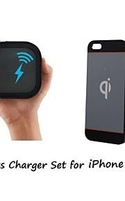[아이폰 5 무선 충전기 세트] 아이폰 5 / 5S에 대한 슈퍼 얇은 무선 수신기의 경우 무선 충전기와 2mm를 QI