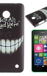 """""""Estamos todos enojados aquí"""" palabras y caso de la cubierta de un pc patrón sombría sonrisa duro de nuevo con lápiz táctil para N630 Nokia Lumia"""