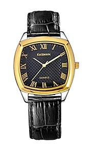 roman safira homens easman 's discar italy genuíno relógio de pulso de couro japão movimento de quartzo (cores sortidas)