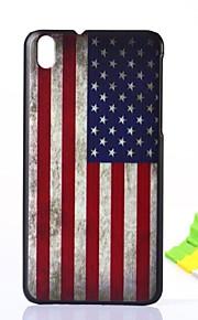 Para Funda HTC Diseños Funda Cubierta Trasera Funda Bandera Dura Policarbonato HTC