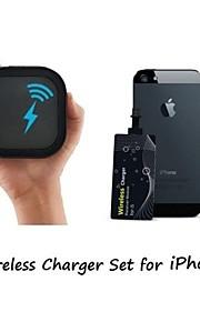 아이폰 6 휴대용 제나라 무선 충전기 및 0.6mm의 초박형 무선 수신기 스티커 [아이폰 무선 세트를 충전]