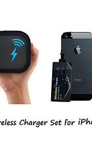 [Iphone wireless di ricarica set] caricatore qi wireless portatile e 0,6 millimetri super sottile sticker ricevitore wireless per iPhone 6