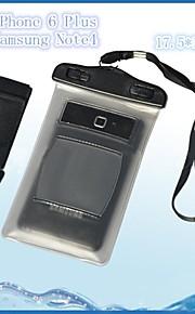 pvc vanntett gjennomsiktig sak 15m undervanns telefon pose posen tørr med arm band for iphone 4s / 5s / 6/6 pluss og andre